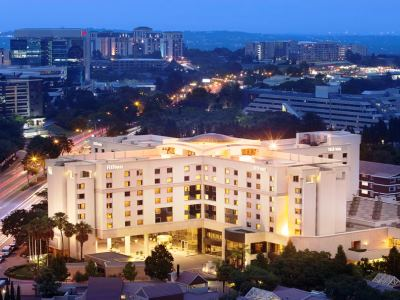 exterior view - hotel hilton sandton - johannesburg, south africa